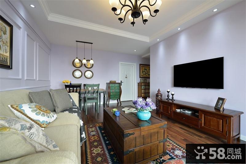 现代风格客厅电视背景墙效果图