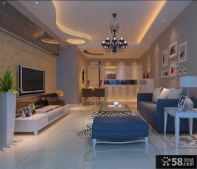 现代客厅装修电视背景墙效果图欣赏