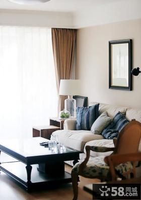 现代美式风格三室两厅客厅装修效果图