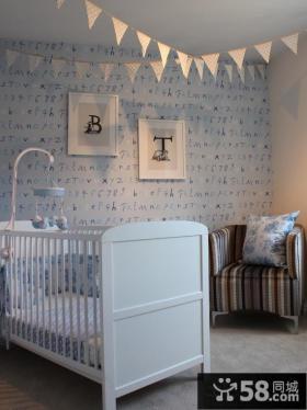 婴儿房墙纸效果图欣赏