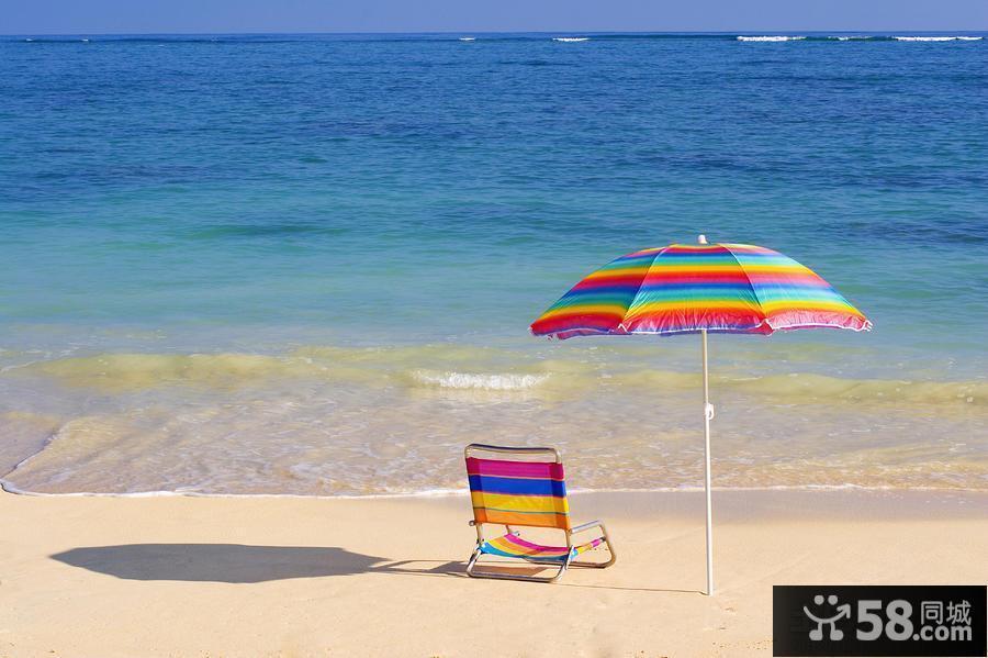 彩条户外沙滩椅图片