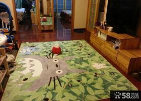 客厅家居地毯卡通贴图