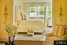 欧式简约卧室装修效果图大全2012图片 卧室黄色墙漆装修效果图