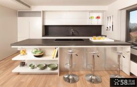 简约开放式厨房装修效果图欣赏