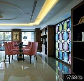 奢华现代别墅室内餐厅设计效果图