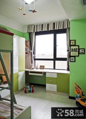 二居室儿童房书桌效果图