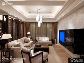 中式客厅天花板吊顶灯设计