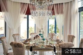 餐厅窗帘装修效果图片