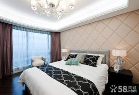 欧式卧室床头背景软包