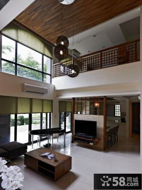 日式风格别墅客厅装修效果图片