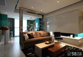 现代客厅隔断装饰效果图