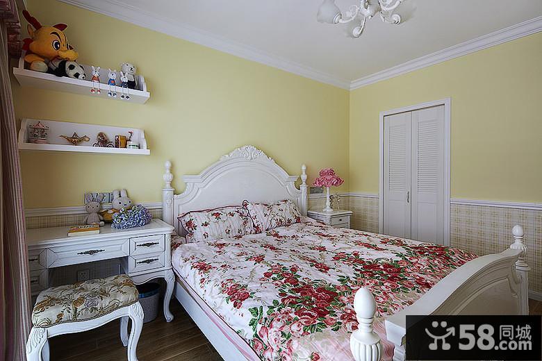 现代美式风格卧室效果图
