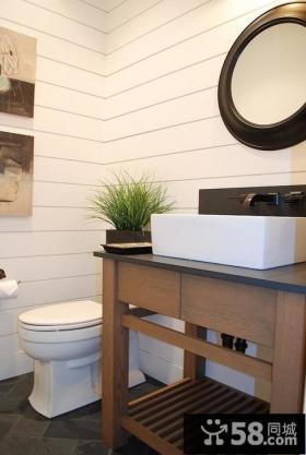 简洁的线条打造2012最新的卫生间装修效果图