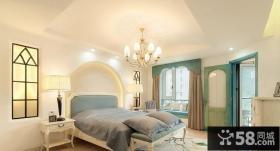 地中海风格装修卧室效果图大全