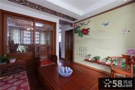 中式风格客厅装饰画效果图