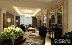 70万打造现代欧式风格三居餐厅装修效果图大全2014图片