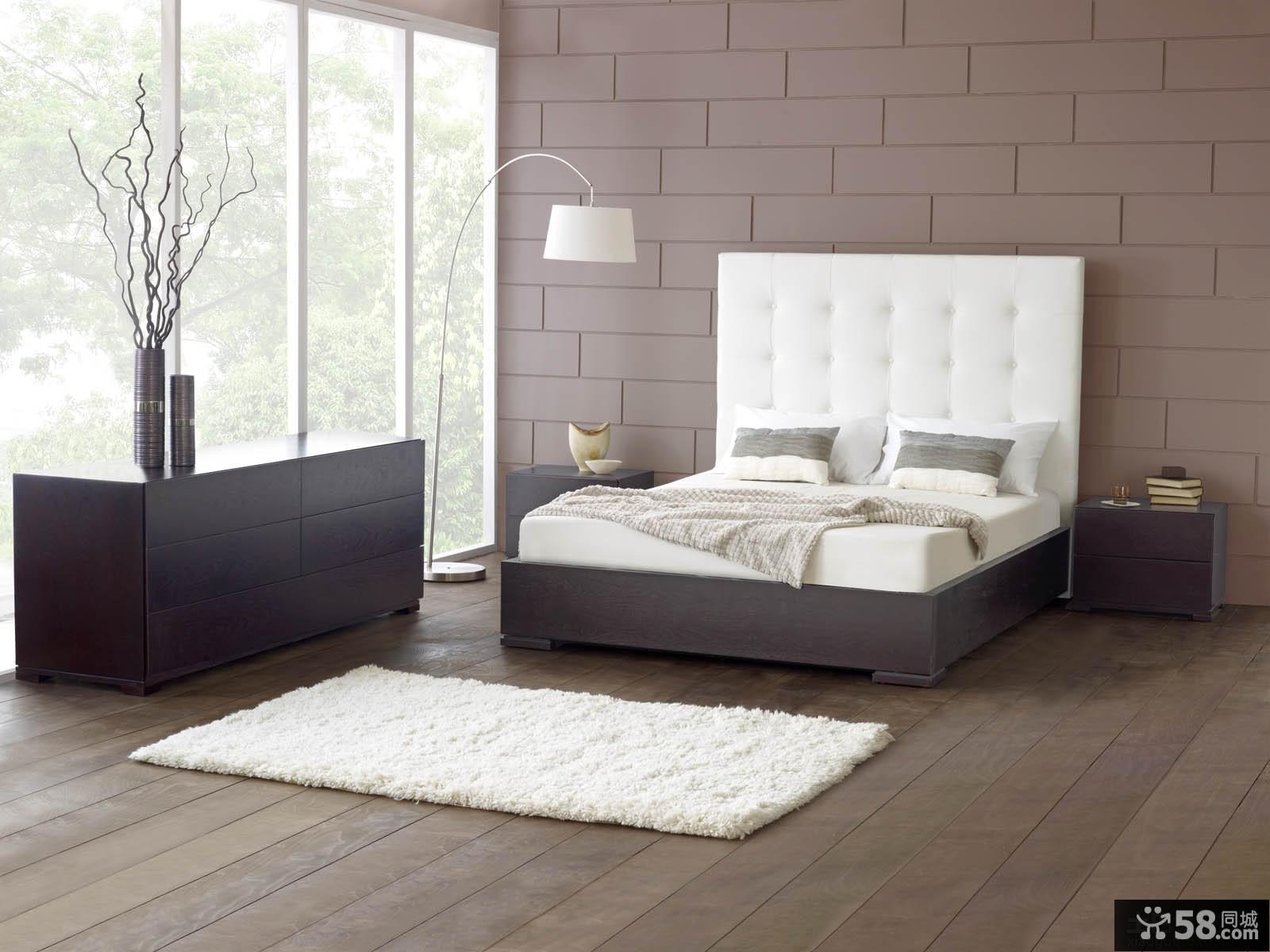 后现代家具卧室床图片