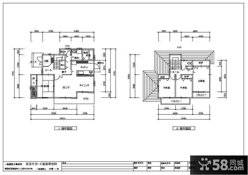 二层房屋室内设计平面图 - 58装修效果图
