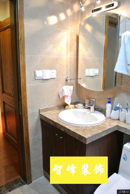 现代风格卫生间洗手池大理石台面效果图