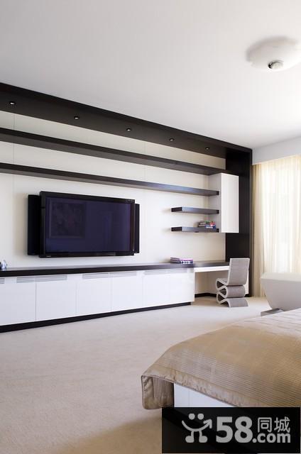 石膏线客厅电视背景墙