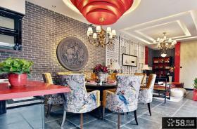 靓丽新中式餐厅装修效果图
