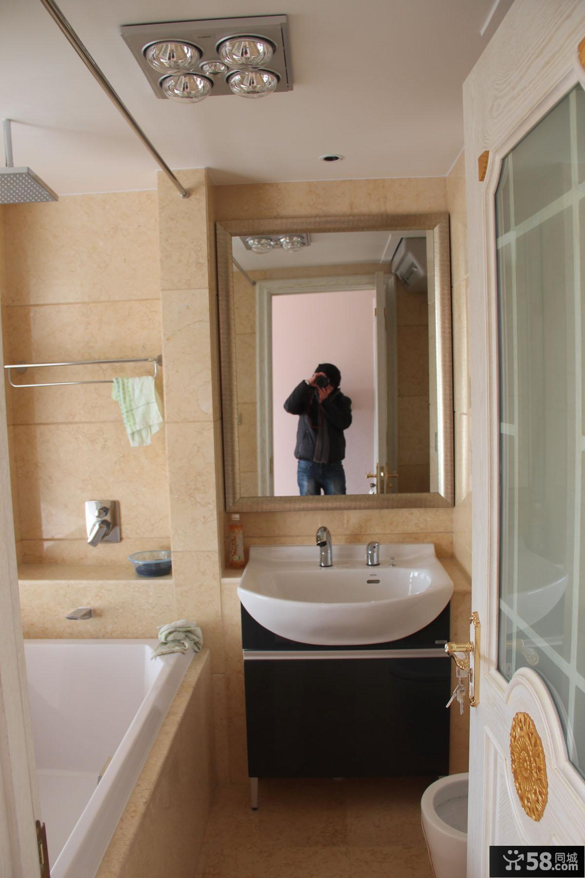 4平欧式家装卫生间效果图
