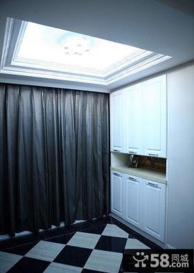 玄关遮光窗帘装修效果图
