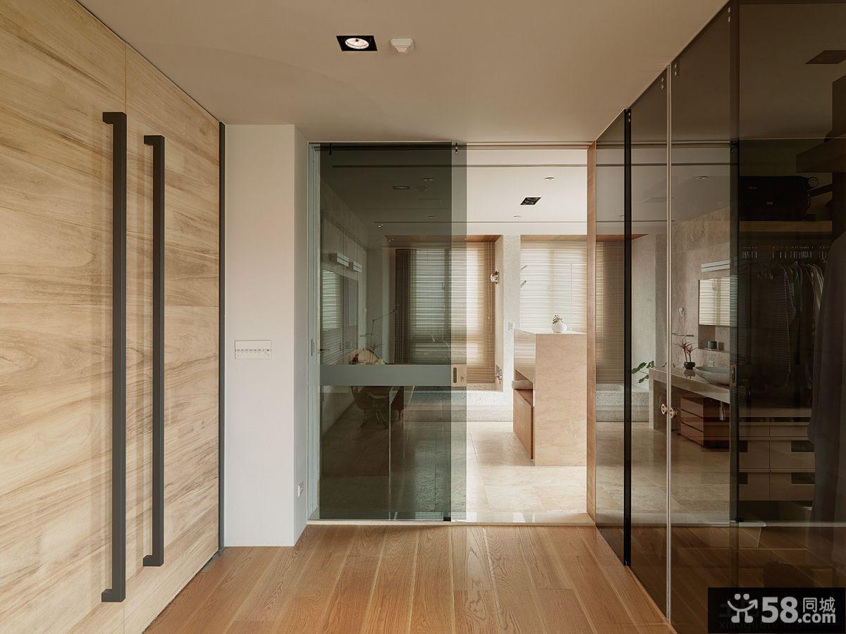 现代别墅室内过道隔断装修效果图