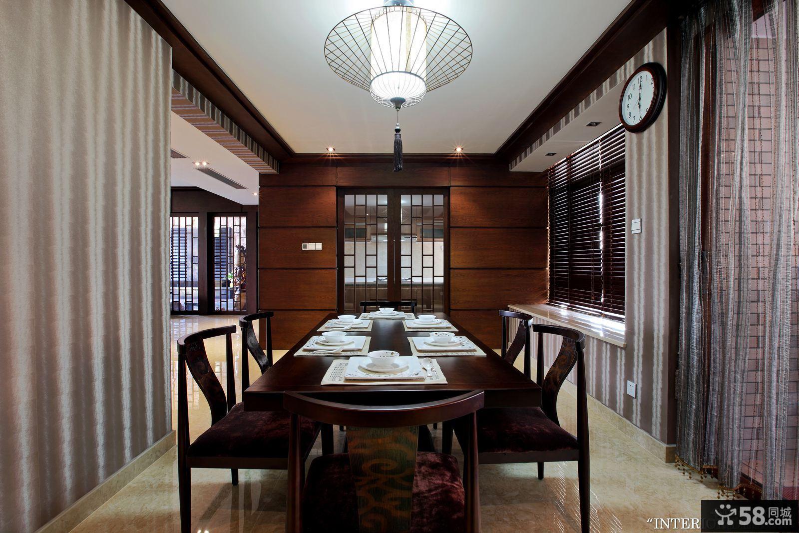 中式餐厅装修设计效果图欣赏