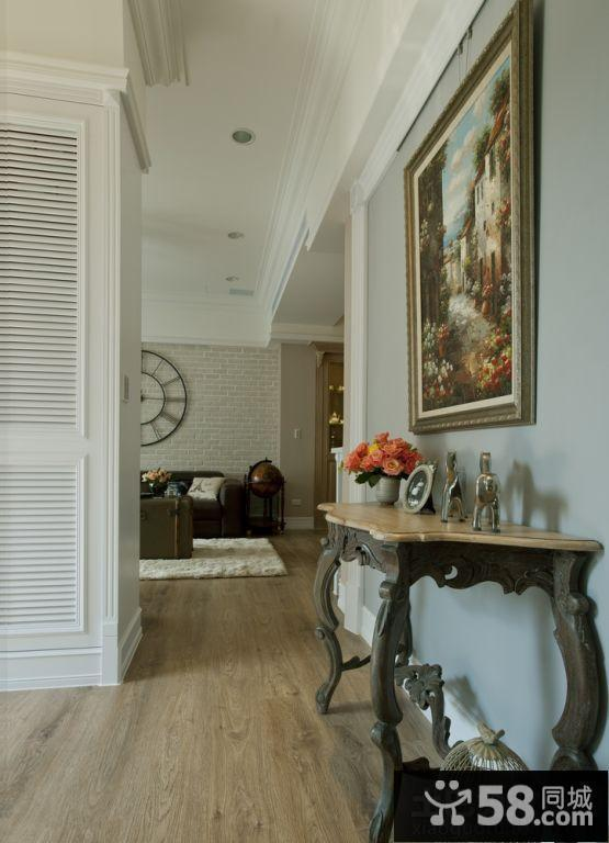 混搭欧式家庭走廊装修效果图