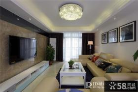 现代简约风格130平米三房两厅客厅装修