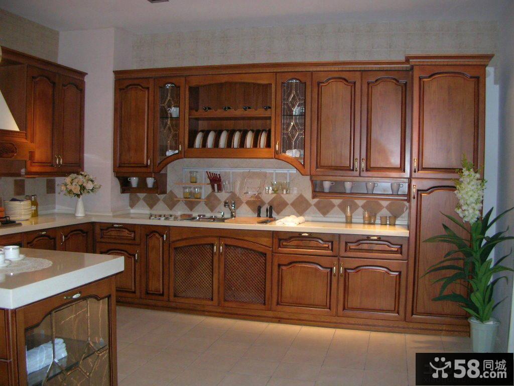 美式厨柜效果图大全2014图片