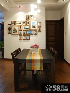 简约小户型餐厅照片墙效果图片