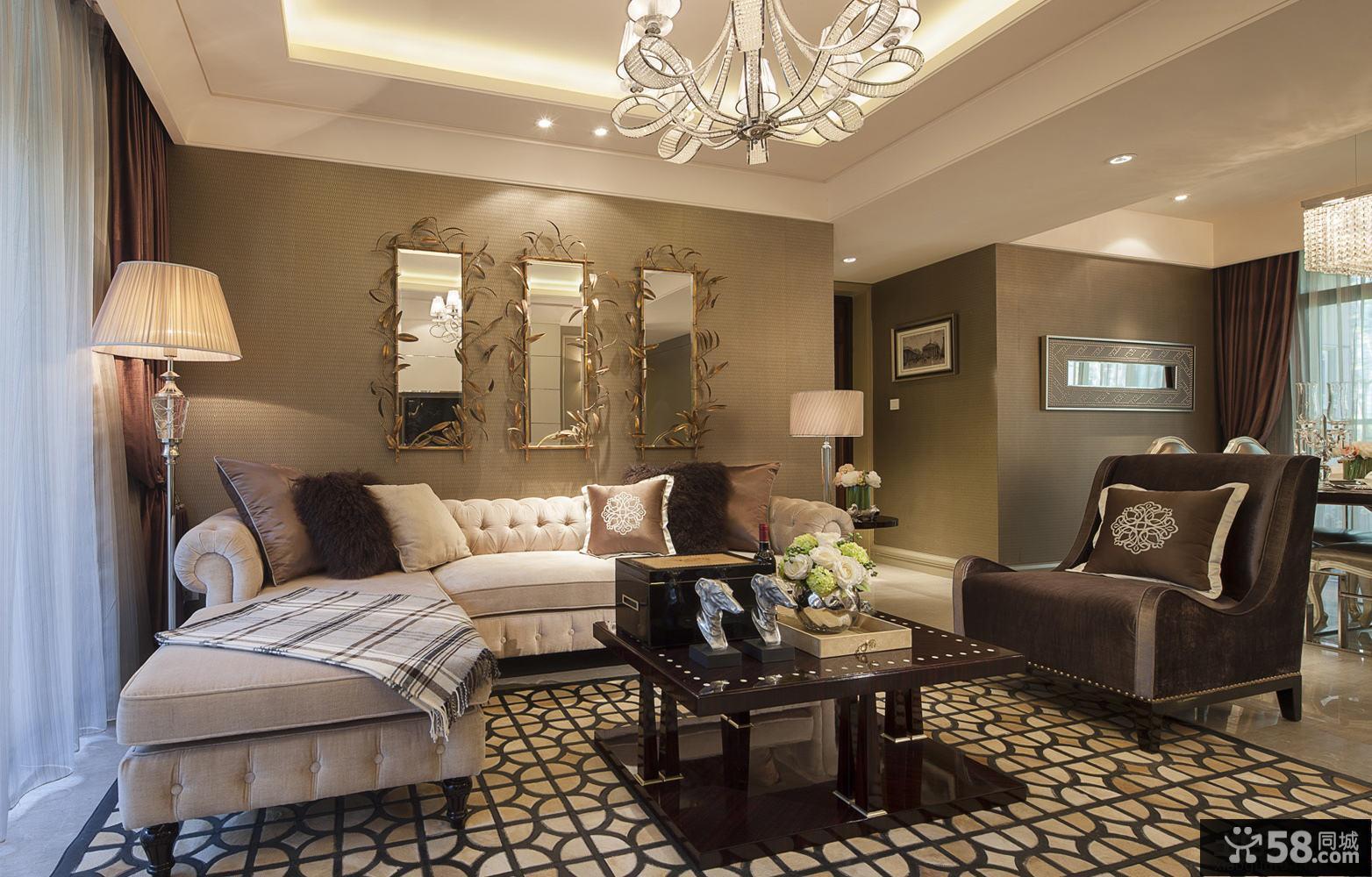 新古典风格三室两厅装修效果图大全