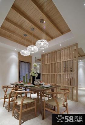 简约中式设计餐厅室内效果图