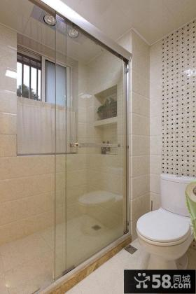家庭卫生间隔断装修效果图片