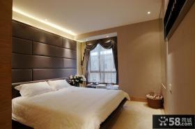 现代简约卧室硬包背景墙效果图欣赏