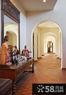 东南亚风格别墅玄关装修设计