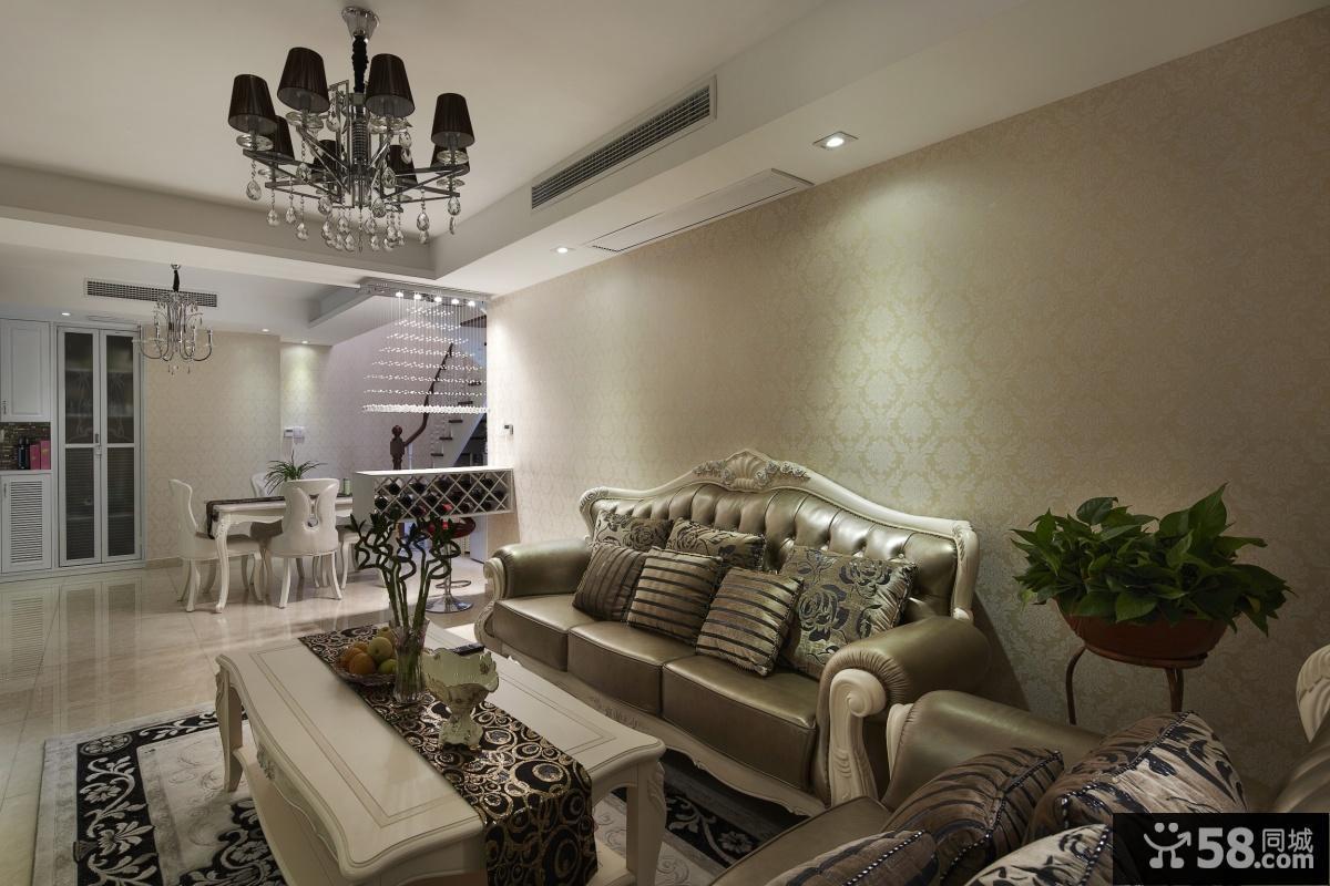 欧式客厅吊灯装饰图片