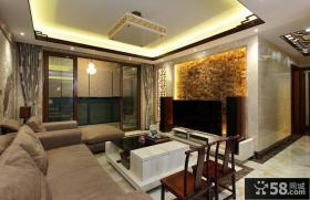 新中式三居客厅装饰效果图