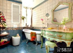 地中海家居卫生间色彩搭配装修图片