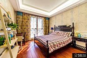 美式装修卧室窗帘效果图