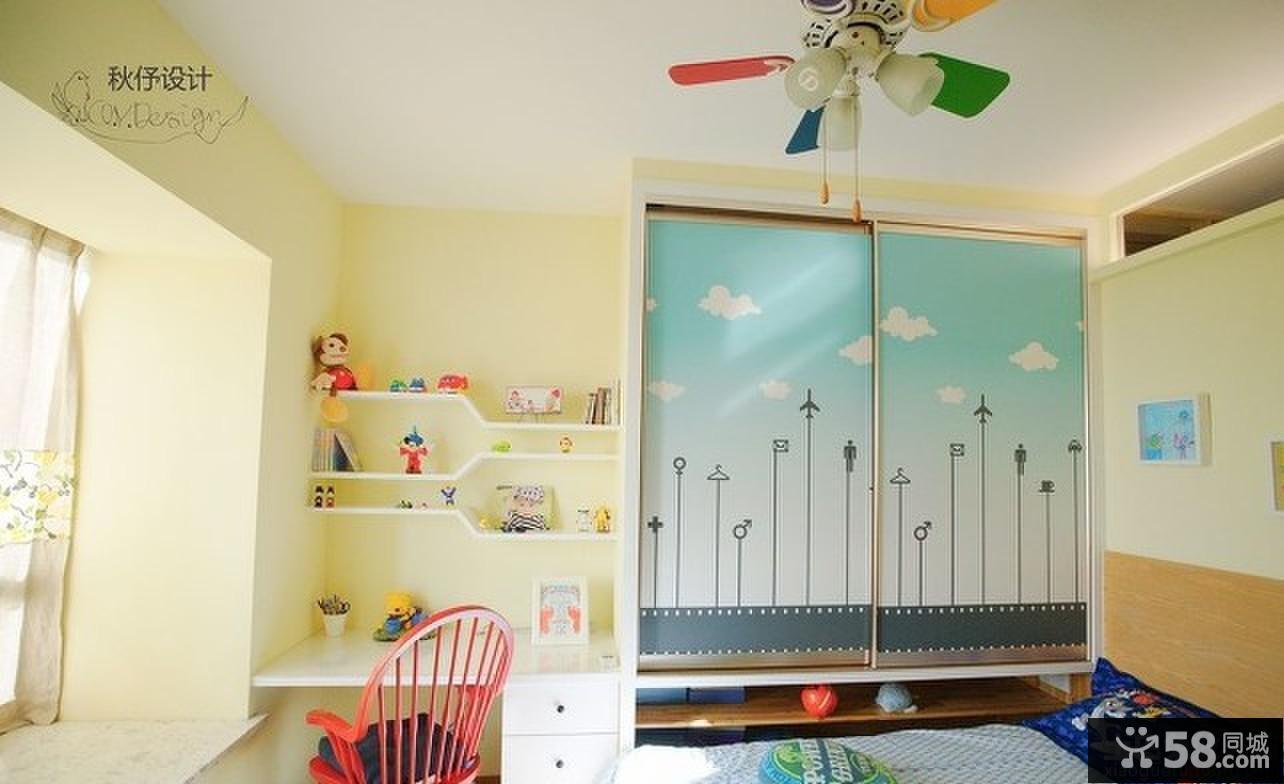 时尚家居儿童房色彩搭配效果图