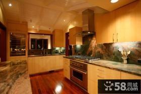 复式美式风格厨房橱柜装修效果图大全2014图片