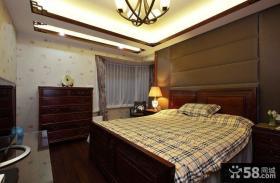 中式家居卧室装修效果图2014