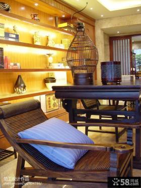 东南亚风格室内实木家具效果图欣赏