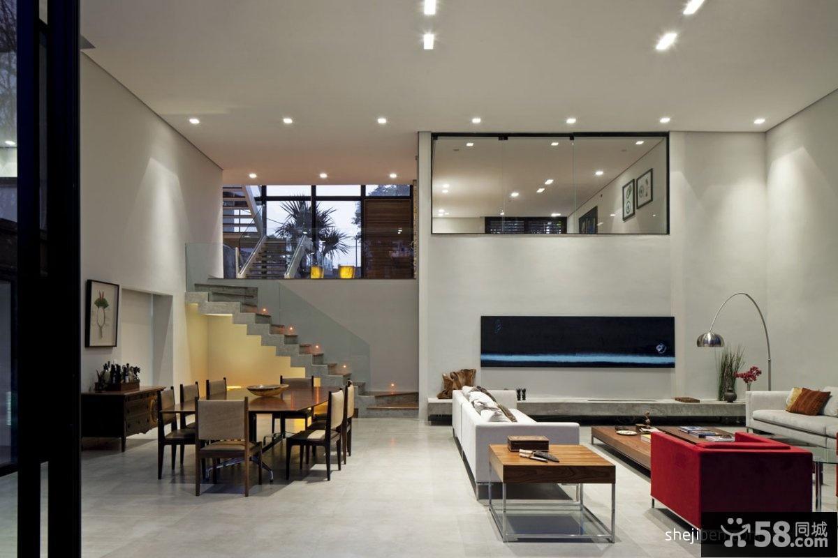 餐厅连客厅装修效果图片