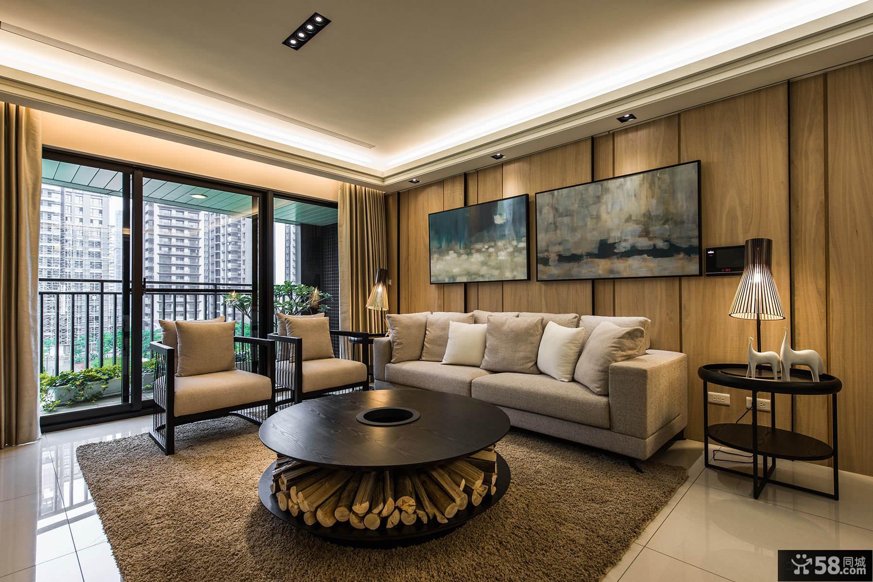 现代120平米三居室装修设计效果图大全欣赏