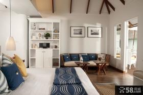 北欧风格卧室装修效果图2014图片