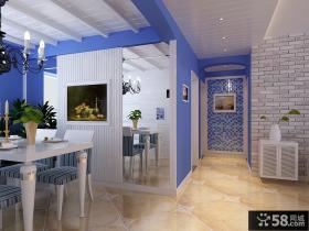 地中海风格装修餐厅图片